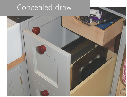 woodcrafts of oxford concealed draw